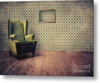 Old Fashioned Armchair Metal Print by Jelena Jovanovic