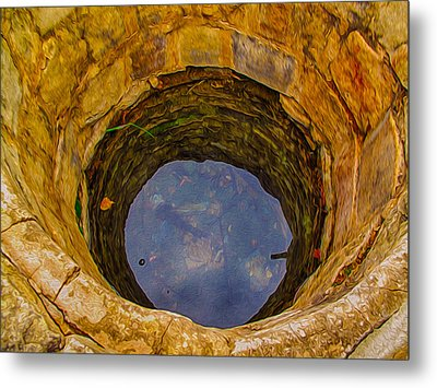 Old Fashioned Well Abstract Metal Print by Omaste Witkowski
