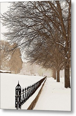 Old Fashioned Winter Metal Print by Chris Berry