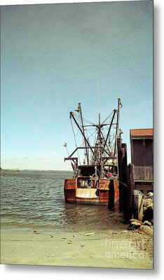 Old Fishing Boat Metal Print by Colleen Kammerer