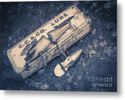 Old Fishing Lures Metal Print by Edward Fielding