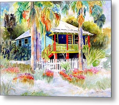 Old Florida House  Metal Print by Joan Dorrill