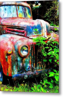 Old Ford #2 Metal Print by Sandy MacGowan