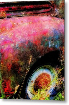 Old Ford #3 Metal Print by Sandy MacGowan