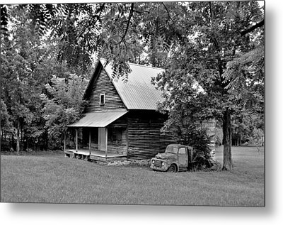 Old Ford And Cabin Metal Print by Bob Jackson