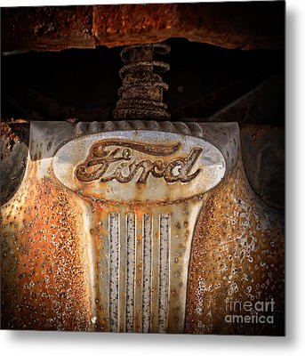 Old Ford Square Format Metal Print