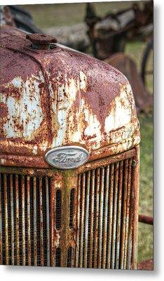 Old Ford Tractor Metal Print by Lynn Jordan