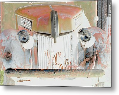 Old Ford Truck - Photopower Metal Print by Pamela Critchlow