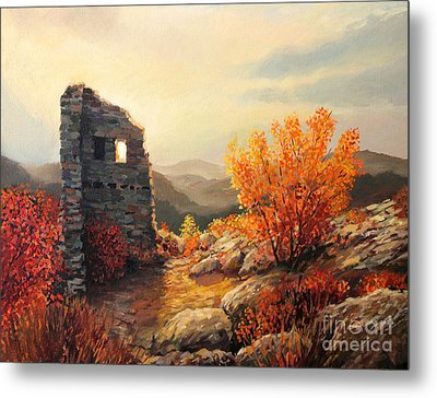Old Fortress Ruins Metal Print by Kiril Stanchev
