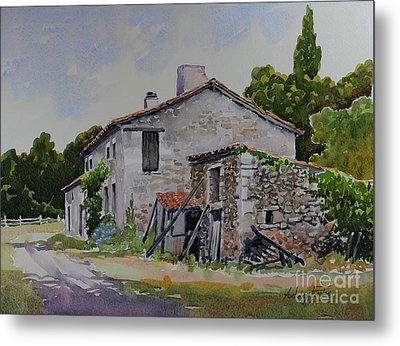 Old French Farmhouse Metal Print by Anthony Forster