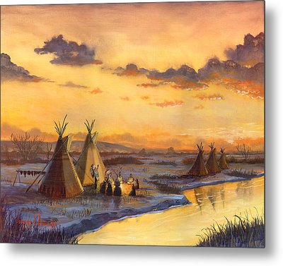 Old Friends New Stories Metal Print by Jeff Brimley