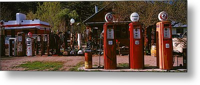 Old Frontier Gas Station, Embudo, New Metal Print by Panoramic Images