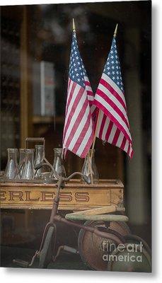 Old General Store Window Metal Print by Edward Fielding