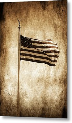 Metal Print featuring the photograph Old Glory by Aaron Berg