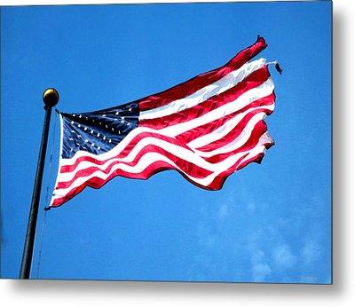 Old Glory - American Flag By Sharon Cummings Metal Print