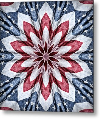 Old Glory Metal Print by Cricket Hackmann