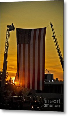 Metal Print featuring the photograph Old Glory by Jim Lepard