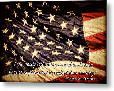 Old Glory Military Tribute Metal Print by Lincoln Rogers
