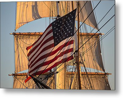 Old Glory Metal Print by Peter Tellone