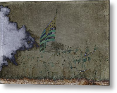 Old Glory Standoff Metal Print by Wes and Dotty Weber