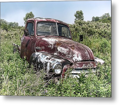Old Gmc Truck Metal Print by Olivier Le Queinec