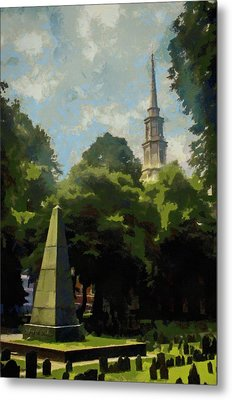 Metal Print featuring the painting Old Granery Burying Ground by Jeff Kolker