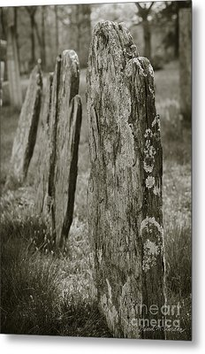 Old Gravestones I Metal Print by Dave Gordon