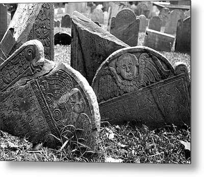 Metal Print featuring the photograph Old Graveyard In Boston by Mary Bedy
