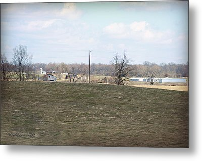 Old Gray Shed On The Hill Metal Print by Paulette B Wright