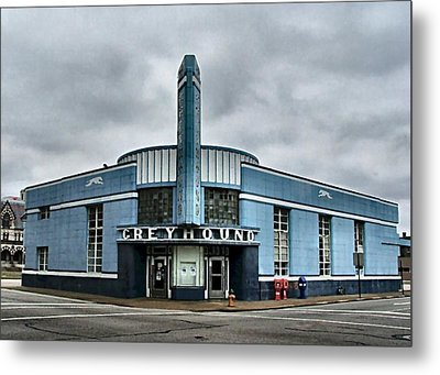 Old Greyhound Bus Terminal  Metal Print by Julie Dant