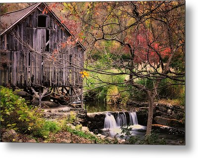 Old Grist Mill - Kent Connecticut Metal Print by Thomas Schoeller