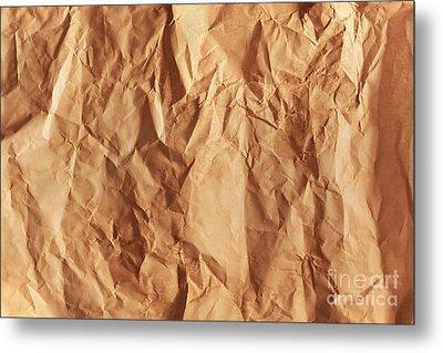 Old Grunge Creased Paper Texture. Retro Vintage Background Metal Print