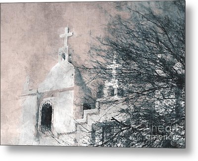 Metal Print featuring the painting Old Guadalupe Church by Julie Lueders