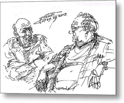 Old Guys  Metal Print by Ylli Haruni