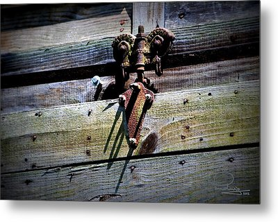 Metal Print featuring the photograph Old Hardware by Ludwig Keck