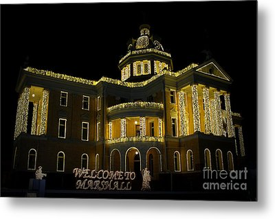 Old Harrison County Courthouse Metal Print by Kathy  White