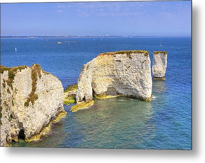 Old Harry Rocks - Purbeck Metal Print by Joana Kruse