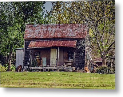 Old Haus Metal Print by Kelly Kitchens
