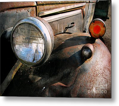 Old Headlights Metal Print by Colleen Kammerer