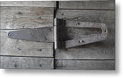 Metal Print featuring the photograph Old Hinge by J L Zarek