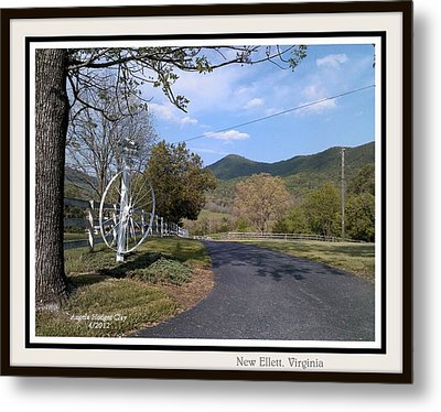 Metal Print featuring the digital art Old Homeplace In New Elliett Va by Angelia Hodges Clay