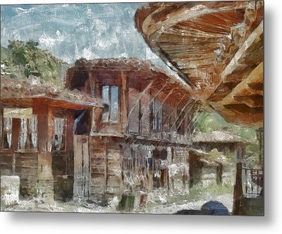 Metal Print featuring the painting Old House by Georgi Dimitrov