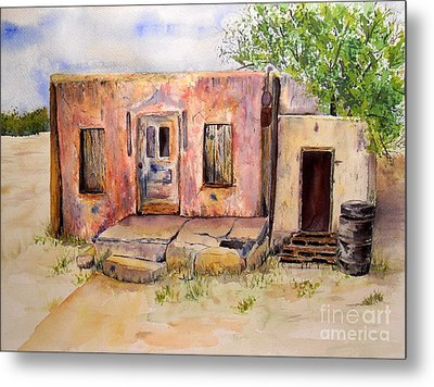 Old House In Clovis Nm Metal Print by Vicki  Housel