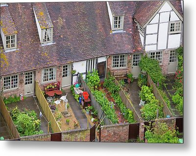Old Houses And Back Gardens Metal Print by Ashley Cooper