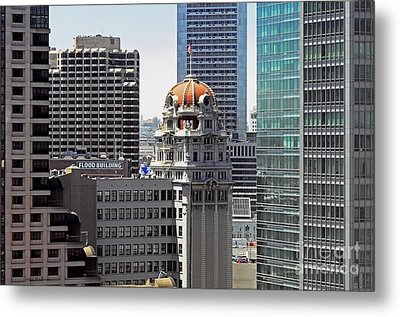 Metal Print featuring the photograph Old Humboldt Bank Building In San Francisco by Susan Wiedmann