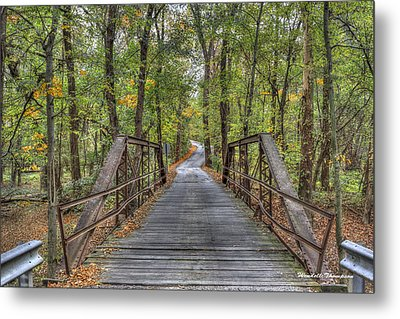 Old Iron Bridge At Panther Creek Metal Print by Wendell Thompson