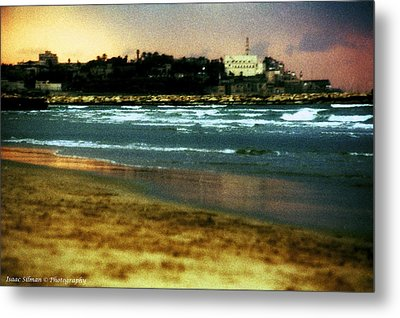 Old Jaffa In Storm 2 Metal Print by Isaac Silman