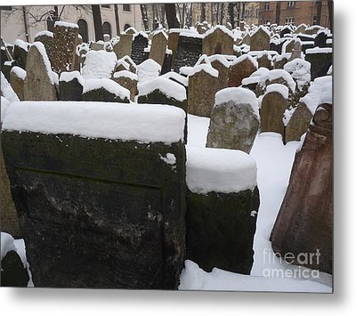 Metal Print featuring the photograph Old Jewish Cemetery by Deborah Smolinske