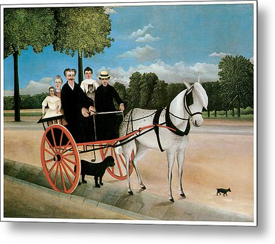 Old Junier's Cart Metal Print by Henri Rousseau