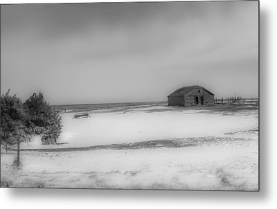 Old Kansas Farm Metal Print
